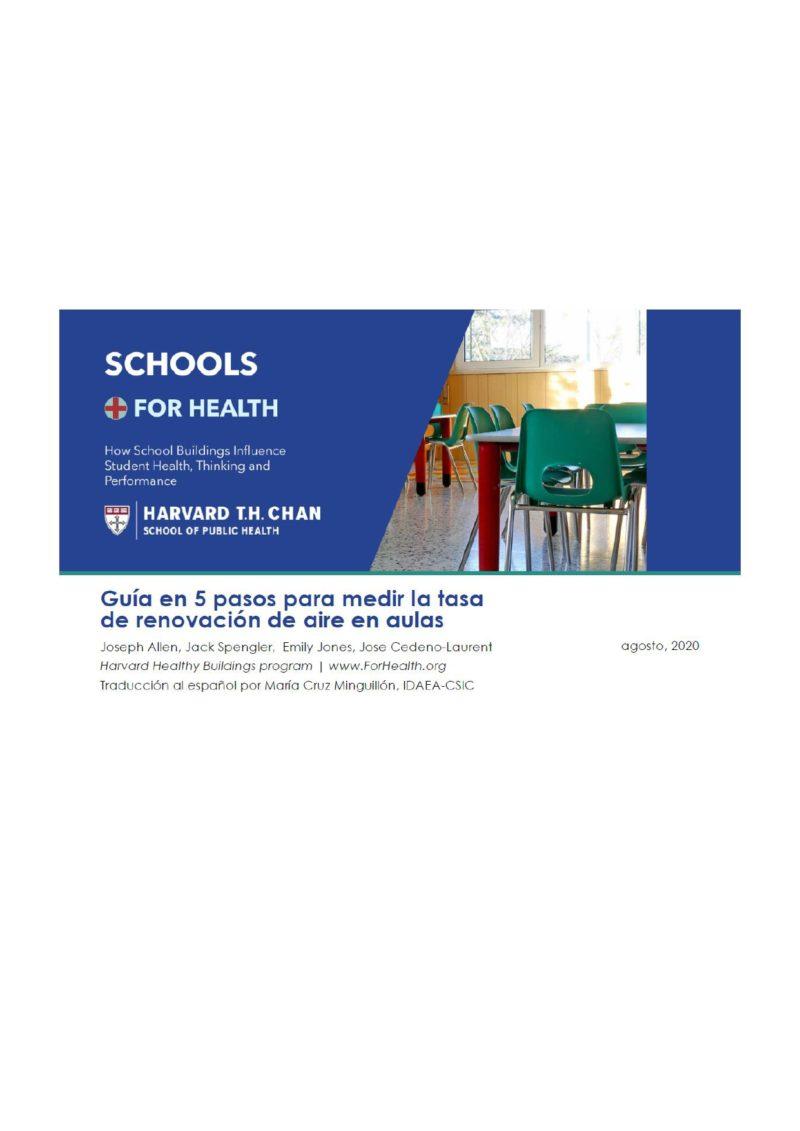 Harvard: Guía de ventilación en aulas (CASTELLANO)