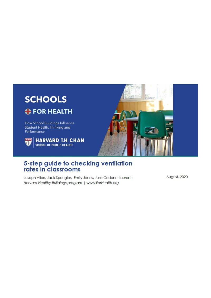 Harvard: Guía de ventilación en aulas (ENGLISH)