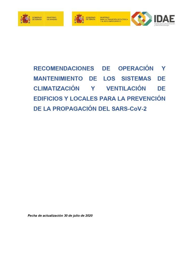 Recomendaciones de operación y mantenimiento en sistemas HVAC